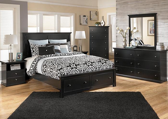 Furniture outlet chicago llc chicago il maribel queen storage platform bed dresser mirror - Ashley furniture platform beds ...