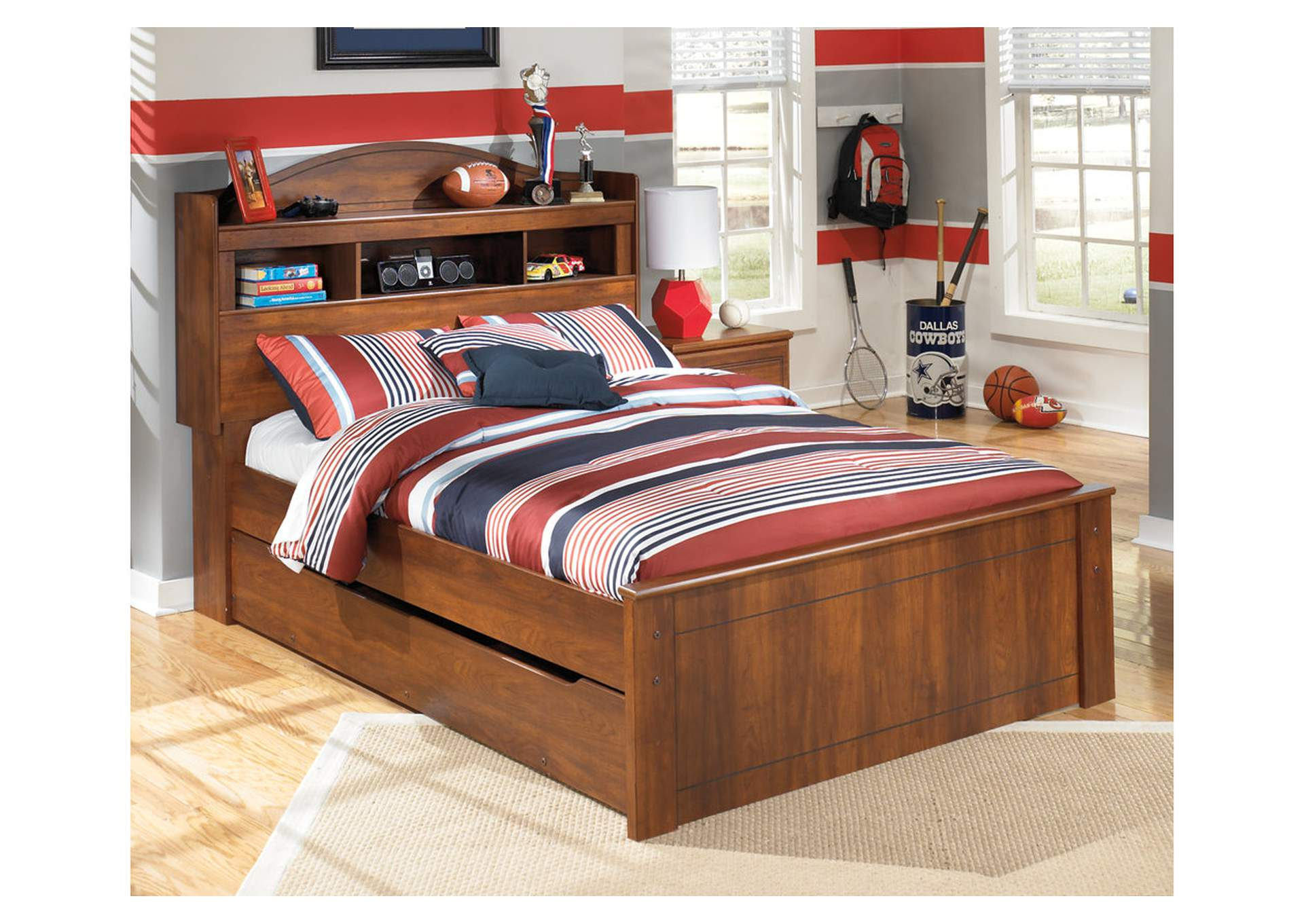 W.A Akins u0026 Sons Barchan Full Bookcase Bed w/ Trundle