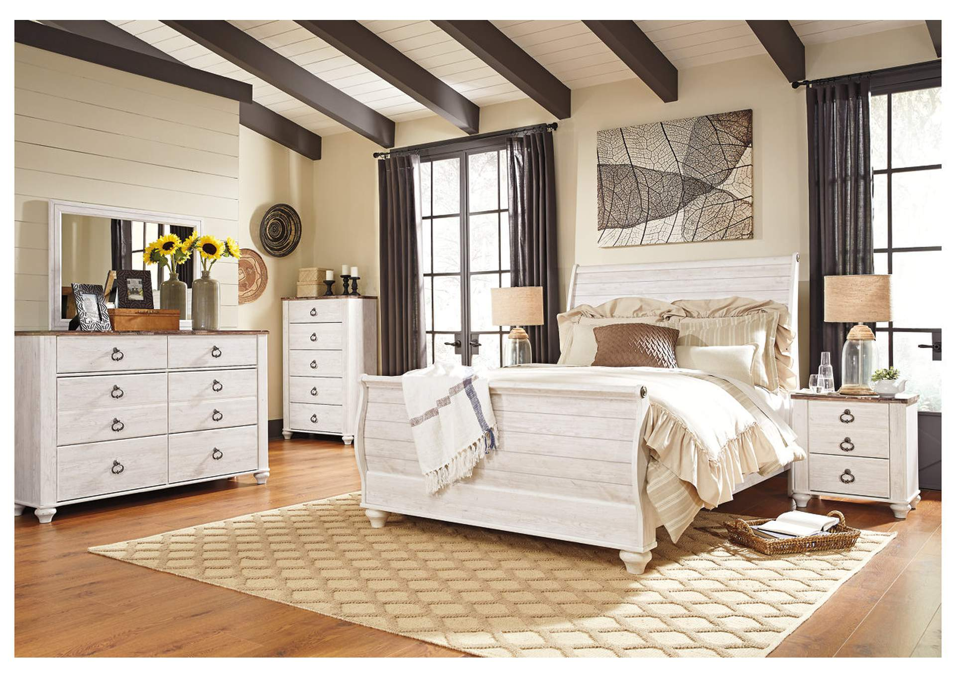 furniture deals millington tn willowton whitewash queen willowton sleigh bedroom set bedroom sets bedroom