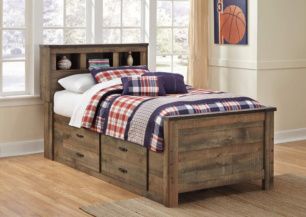 Spiller Furniture Mattress Trinell Twin Bookcase Bed W