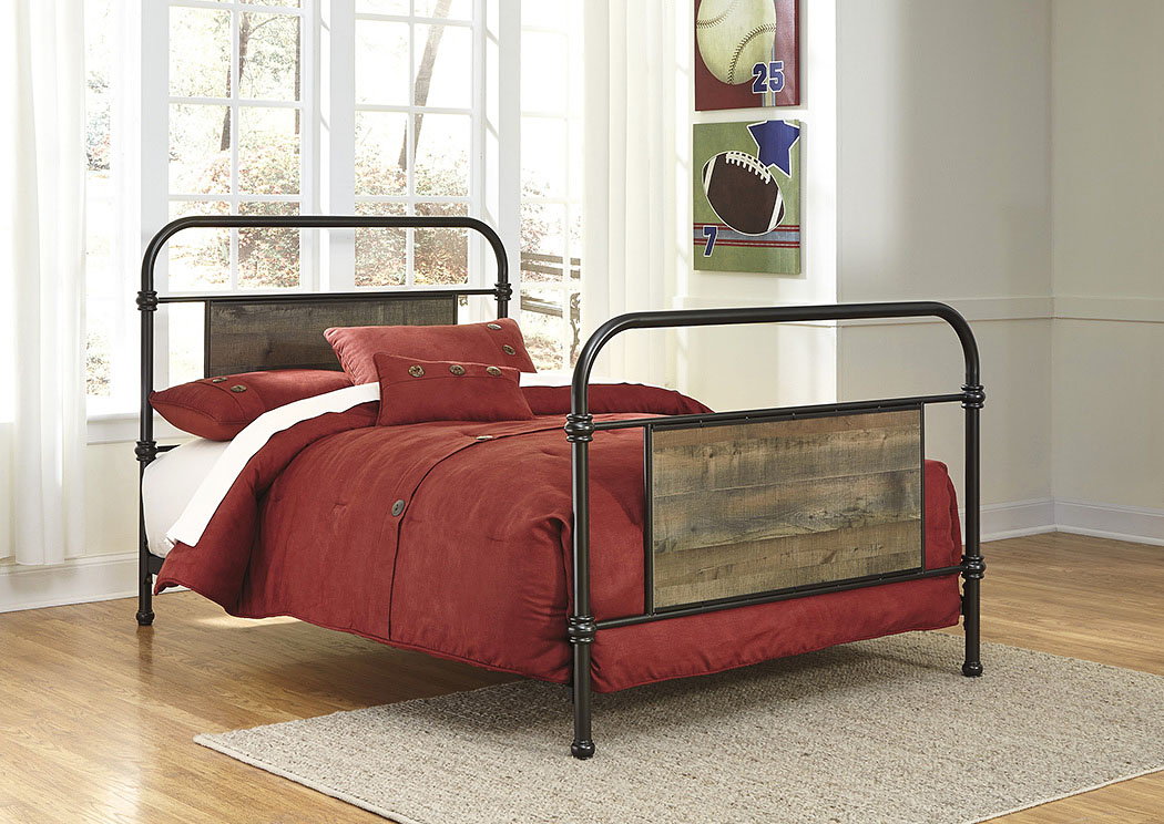 Orleans Furniture Trinell Brown Twin Metal Bed