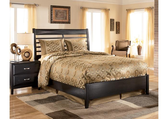National Furniture Outlet Westwego La Kira Black Queen Panel Bed