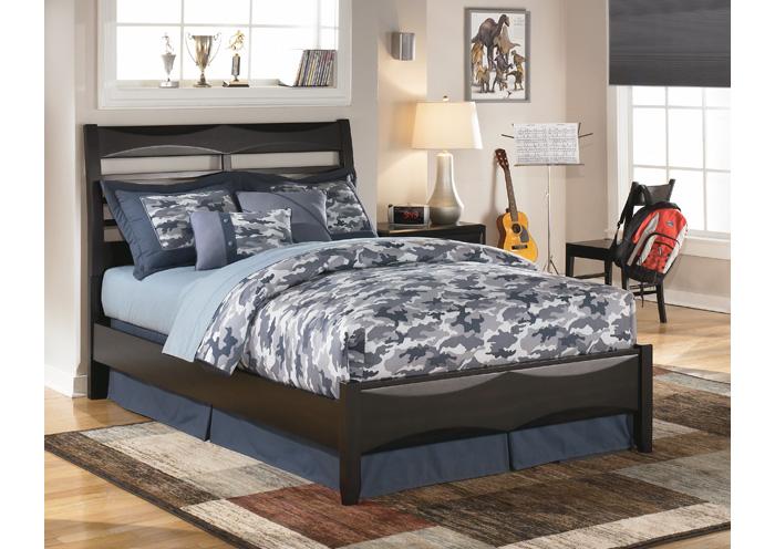 Barbara Jeans Furniture Kira Full Bed W Under Bed Storage