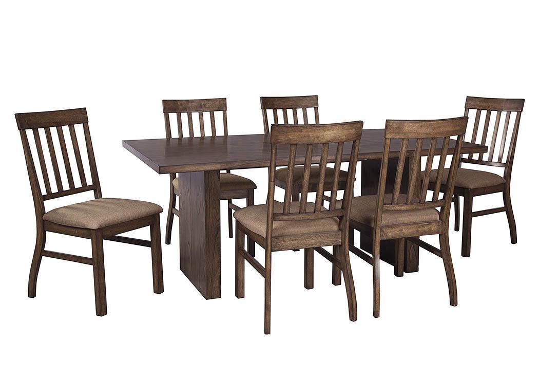 Majek Furniture Zilmar Medium Brown Rectangular Dining