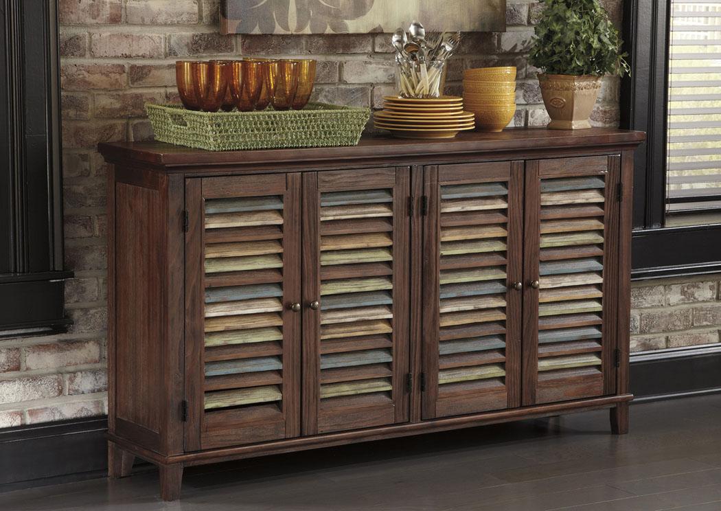 Furniture Depot Schererville IN Mestler Dark Brown Server