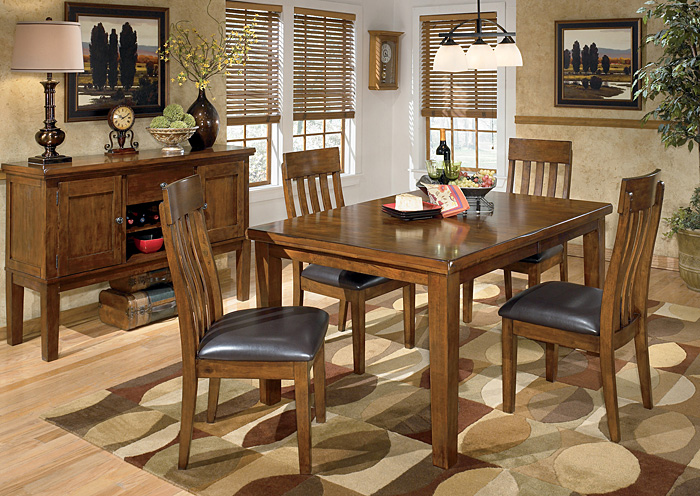 Atlantic Bedding And Furniture Savannah Ga Ralene Rectangular Extension Table W 4 Upholstered