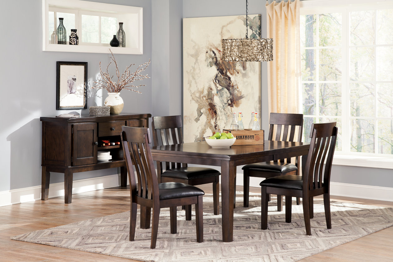 dining room extension table w 4 upholstered side chairs server