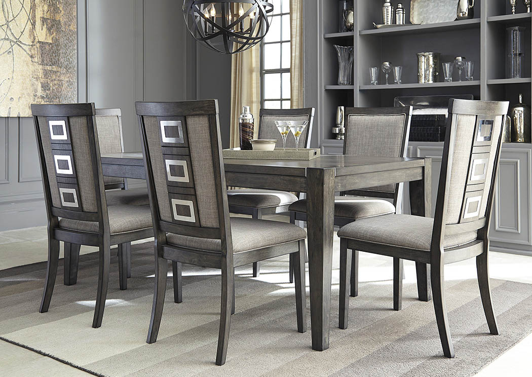 langlois furniture muskegon mi chadoni gray rectangular. Black Bedroom Furniture Sets. Home Design Ideas