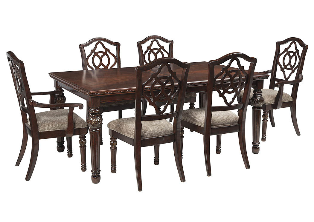Gibson Furniture Gallatin Hendersonville Nashville Tn Leahlyn Reddish Brown Rectangular