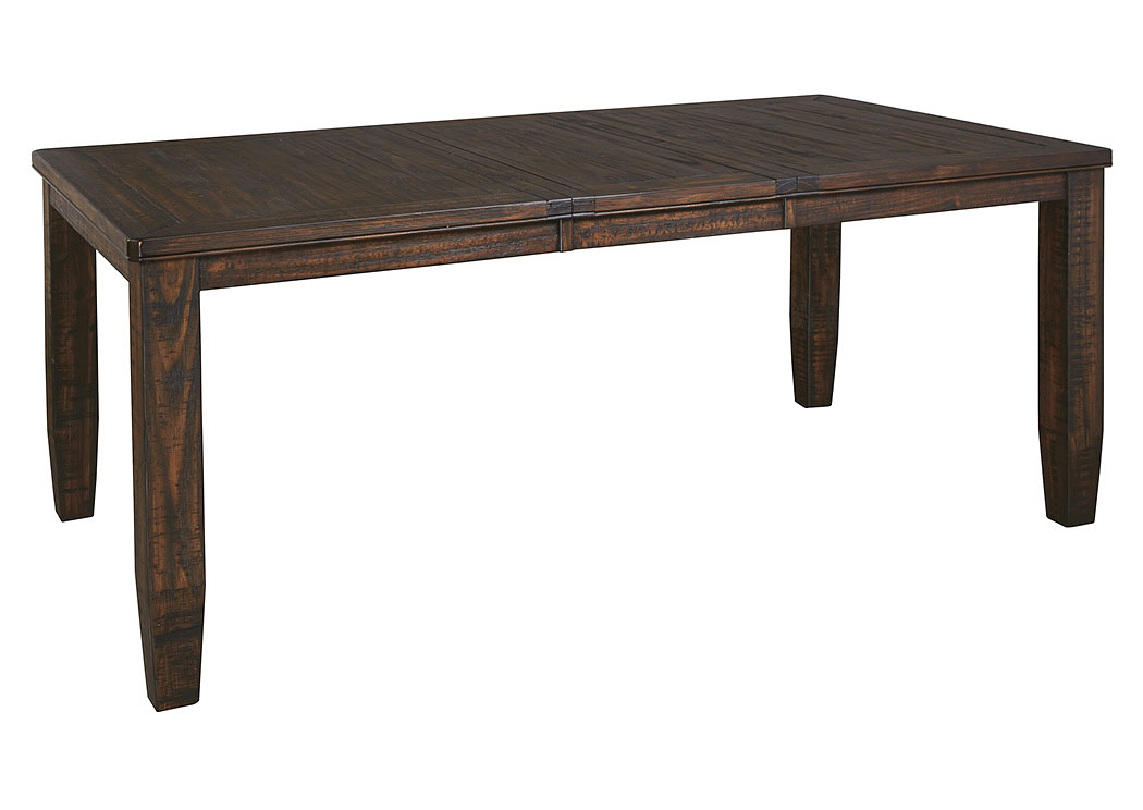 Bargain Furniture Trudell Golden Brown Rectangular Dining Room Extension Table