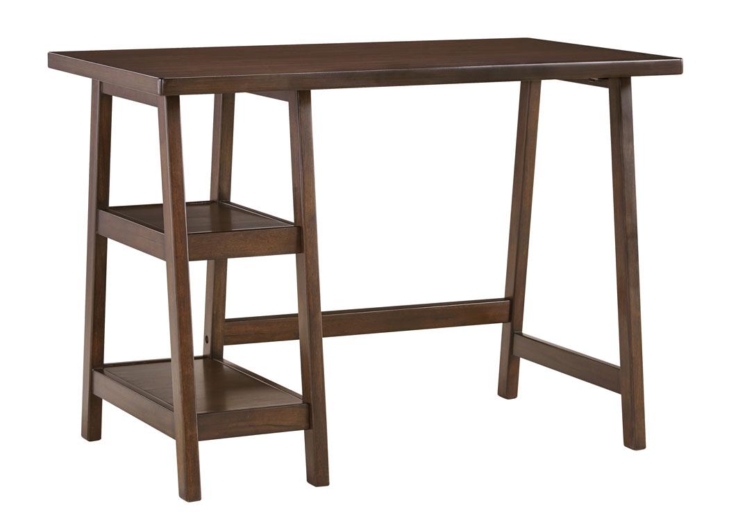 JJ Berry Furniture Lewis Medium Brown Home fice Small Desk