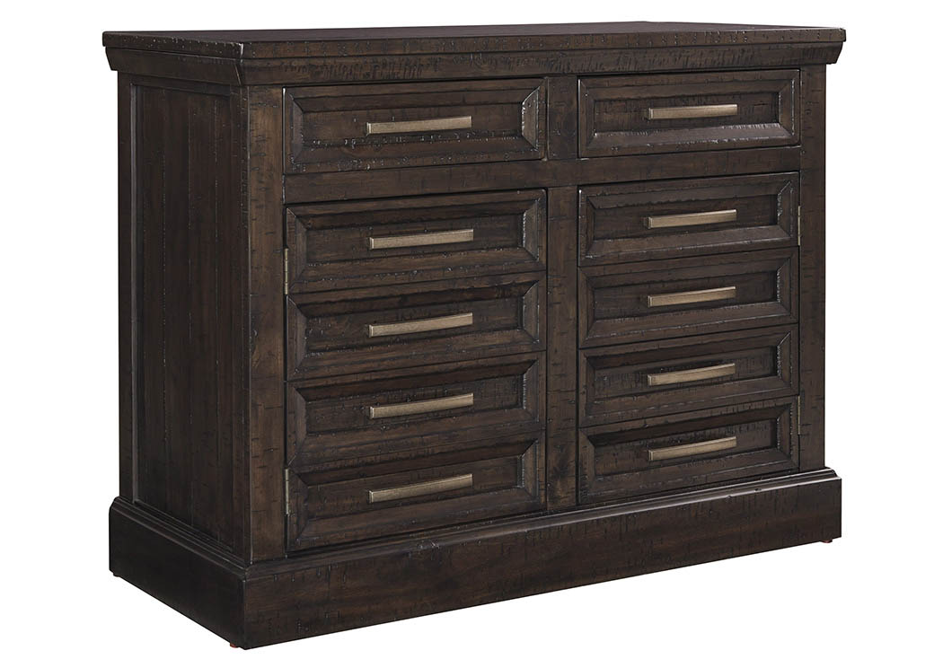 townser grayish brown credenza signature design by ashley