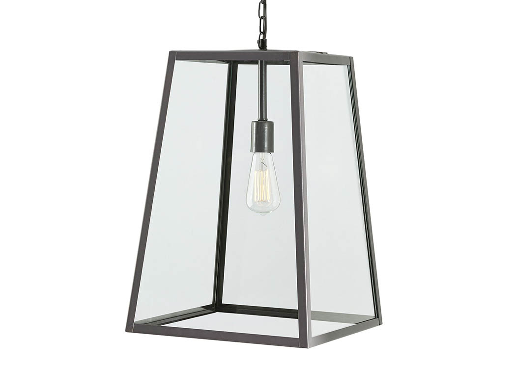 NuLook Furniture Danyale Clear Black Glass Pendant Light