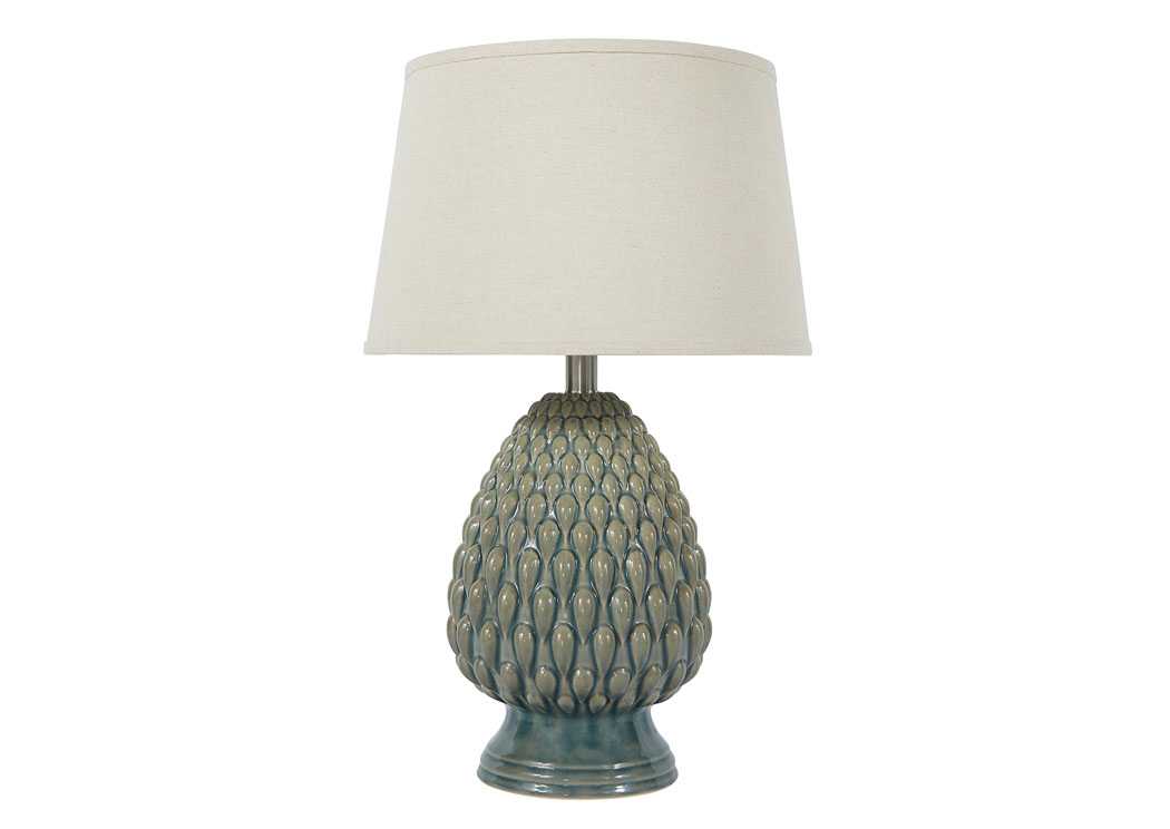 NuLook Furniture Teal Ceramic Table Lamp