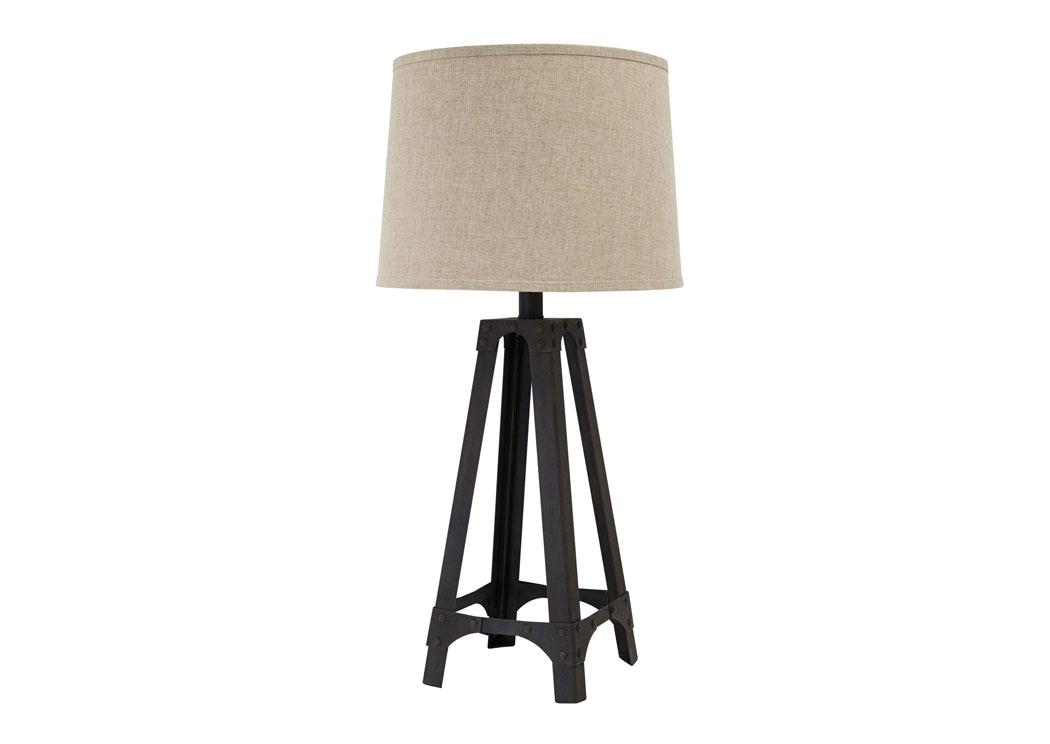 Furniture Exchange Brown Metal Table Lamp