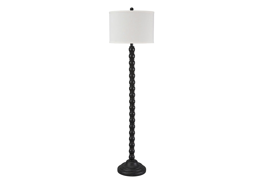 Foothills Family Furniture Shellany Antique Black Poly Floor Lamp
