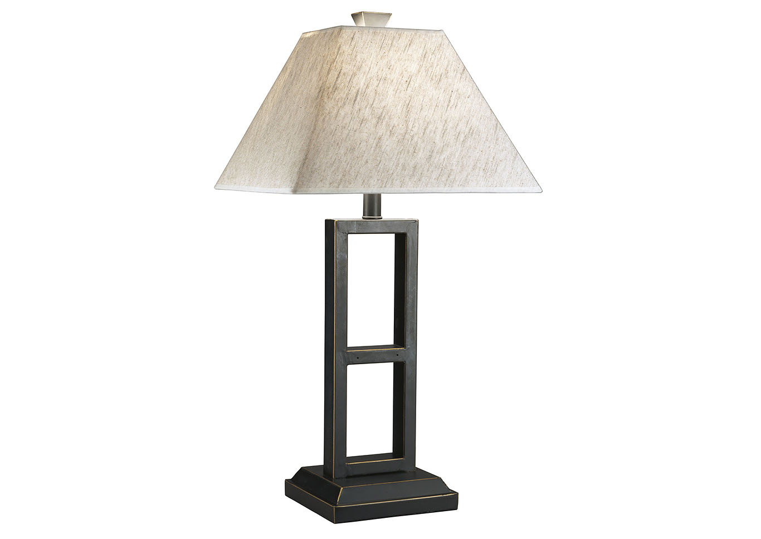 Barbara Jeans Furniture Deidra Black Metal Table Lamp Set