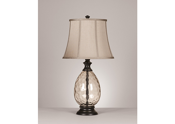 Barbara Jeans Furniture Bronze Olivia Glass Table Lamp