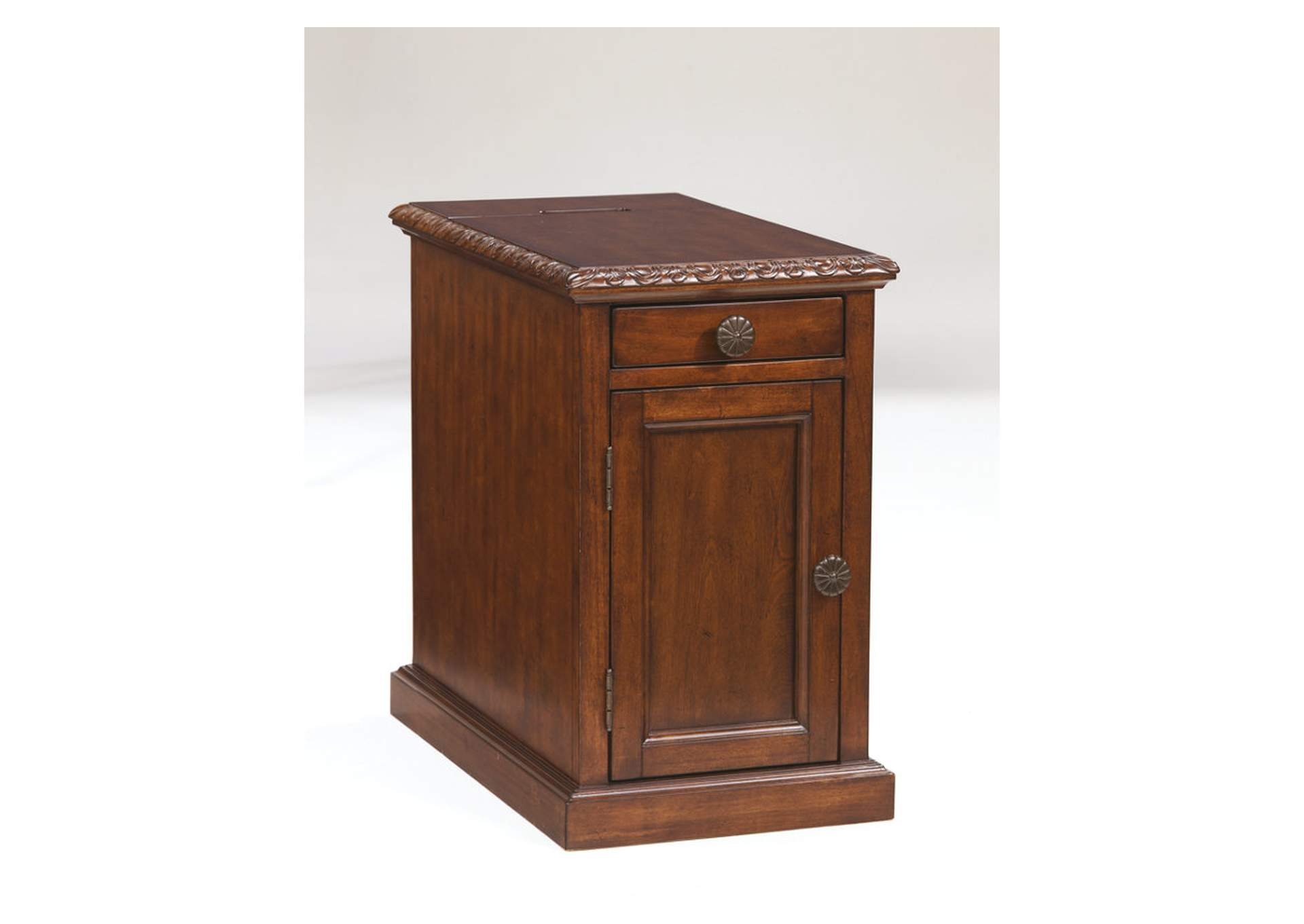 All Brands Furniture Edison Nj Dark Brown Power Chairside End Table