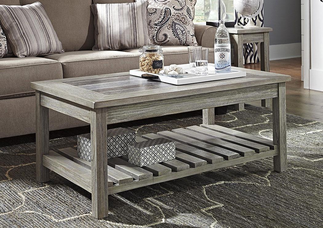 Ware House Furniture Veldar Whitewash Rectangular Cocktail Table