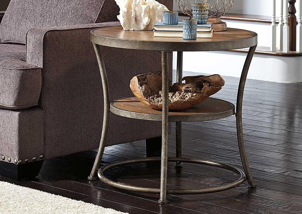 Alabama Furniture Market Nartina Round End Table
