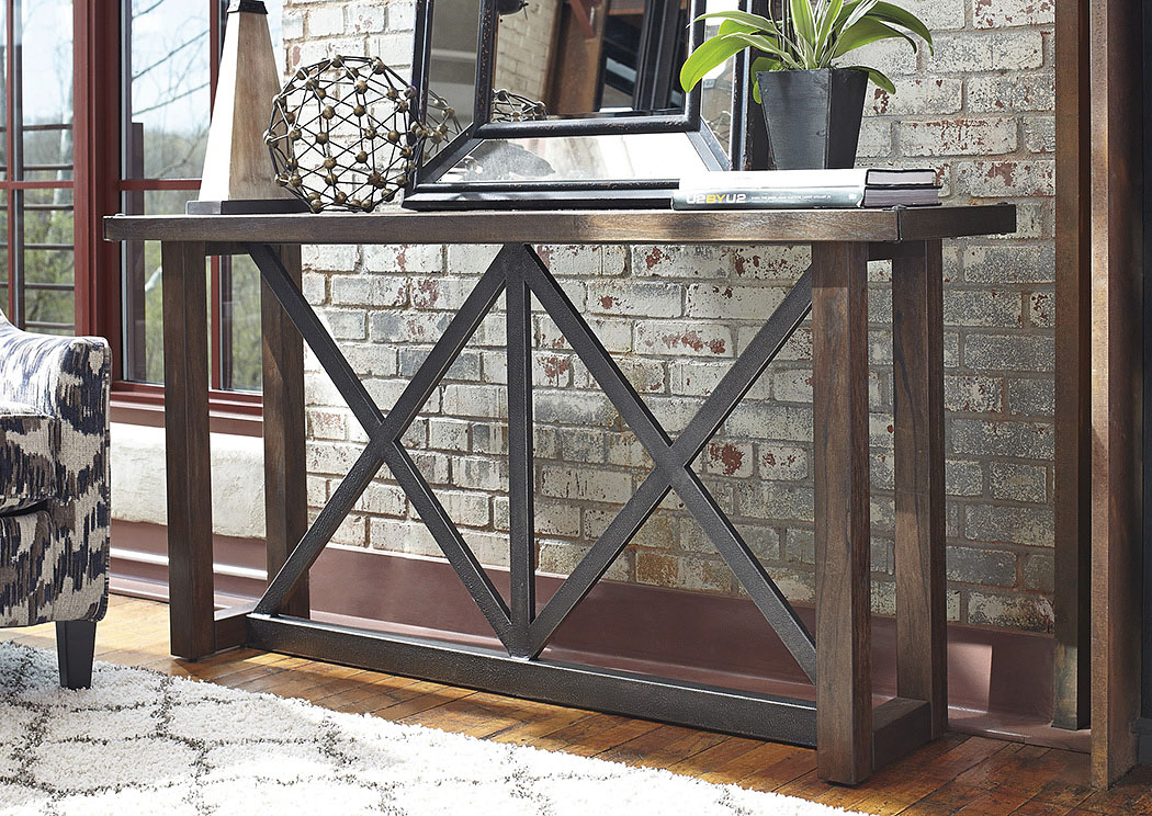 Fat Daddy s Furniture Zenfield Medium Brown Sofa Table