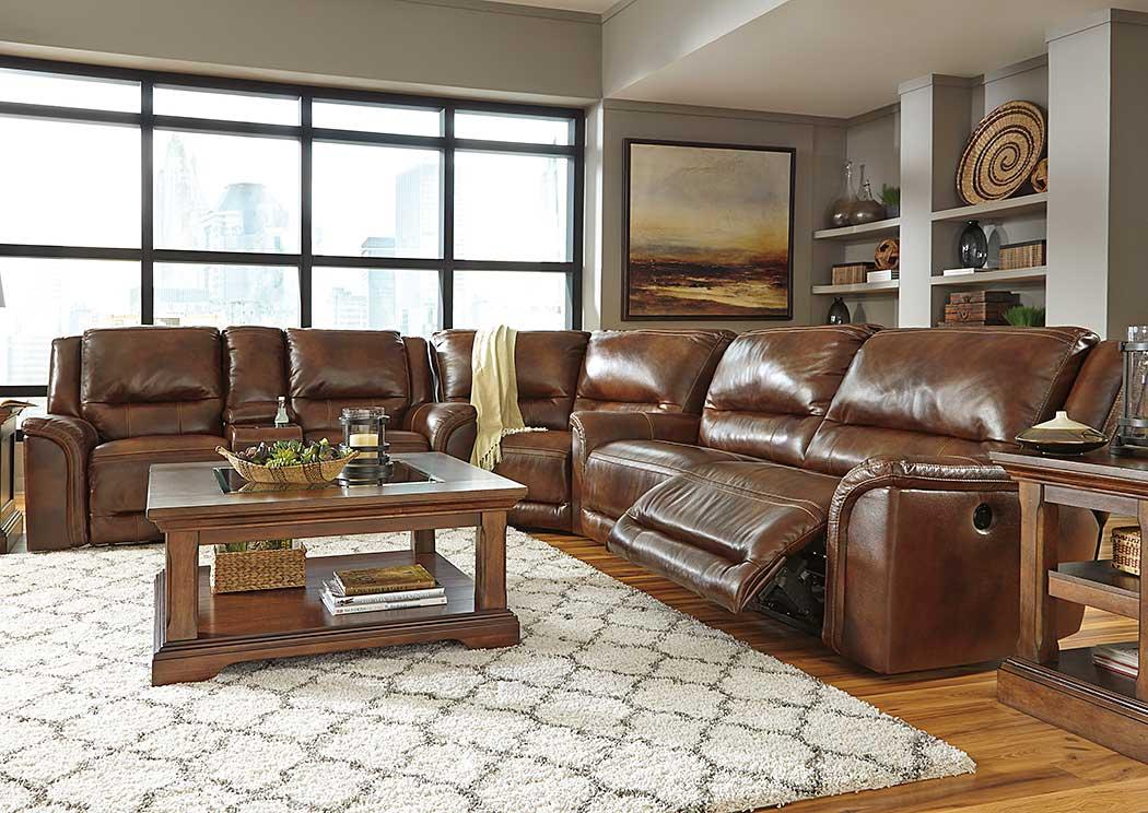 National Furniture Outlet Westwego La Jayron Harness Reclining Sectional