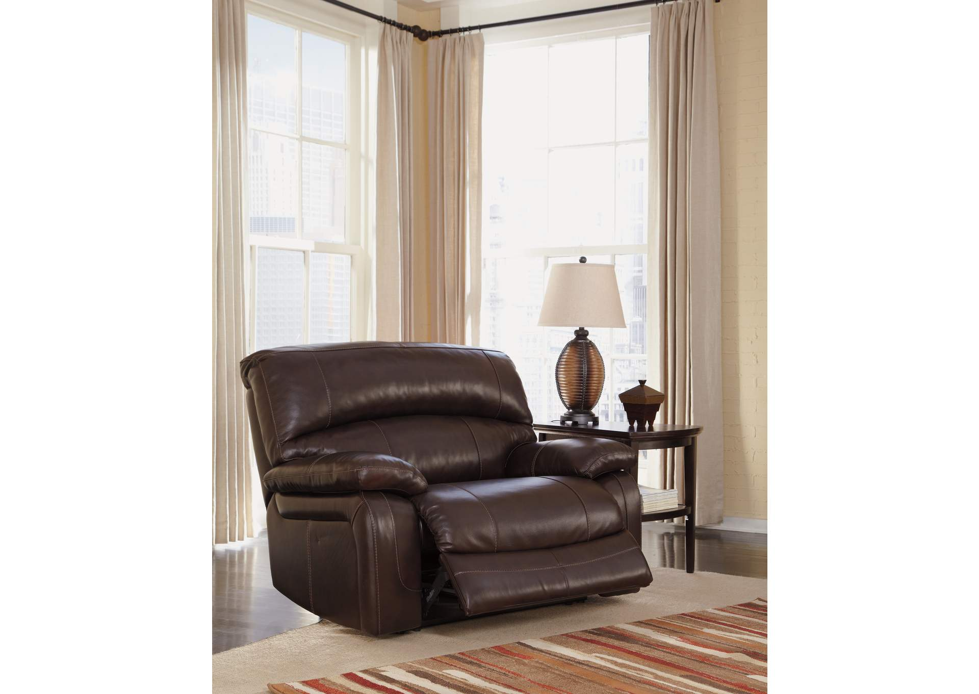Furniture exchange damacio dark brown zero wall power wide for Furniture exchange