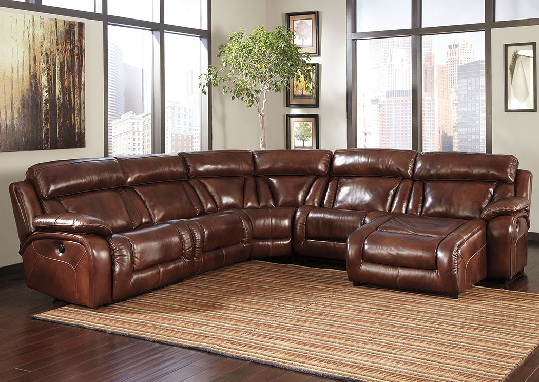 Harlem furniture elemen harness reclining power sectional