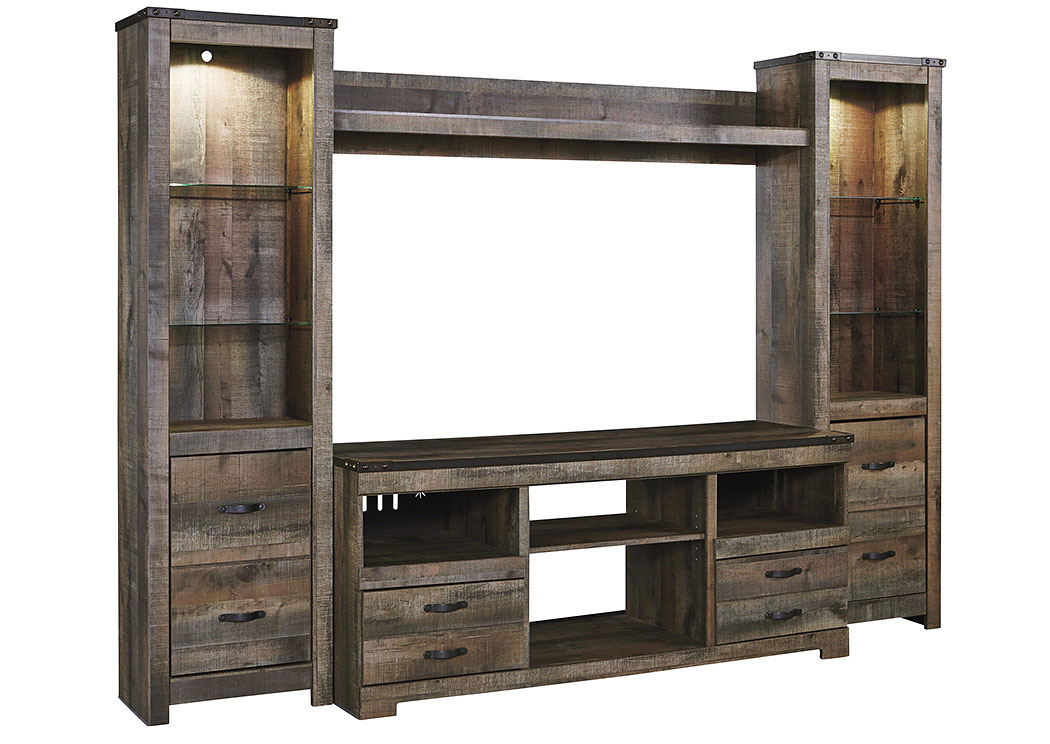 Harlem Furniture Trinell Brown Entertainment Center w