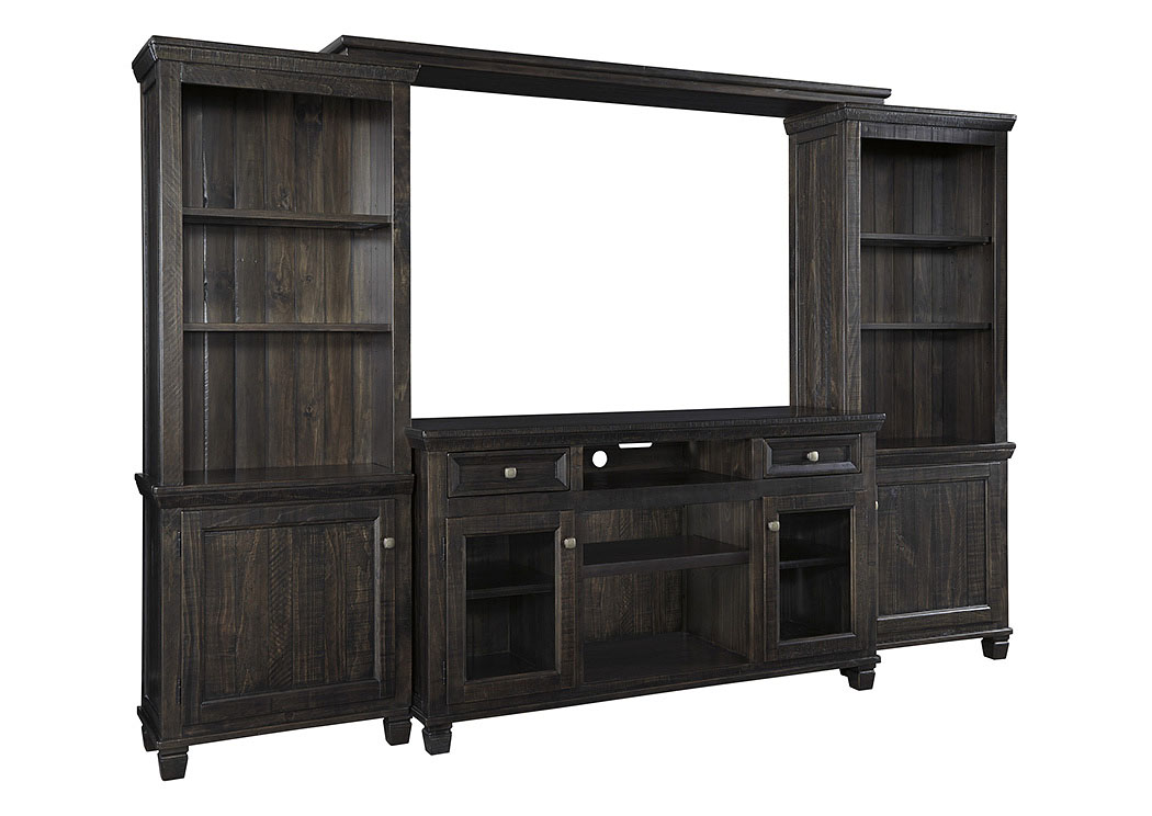 townser grayish brown entertainment center signature design by ashley
