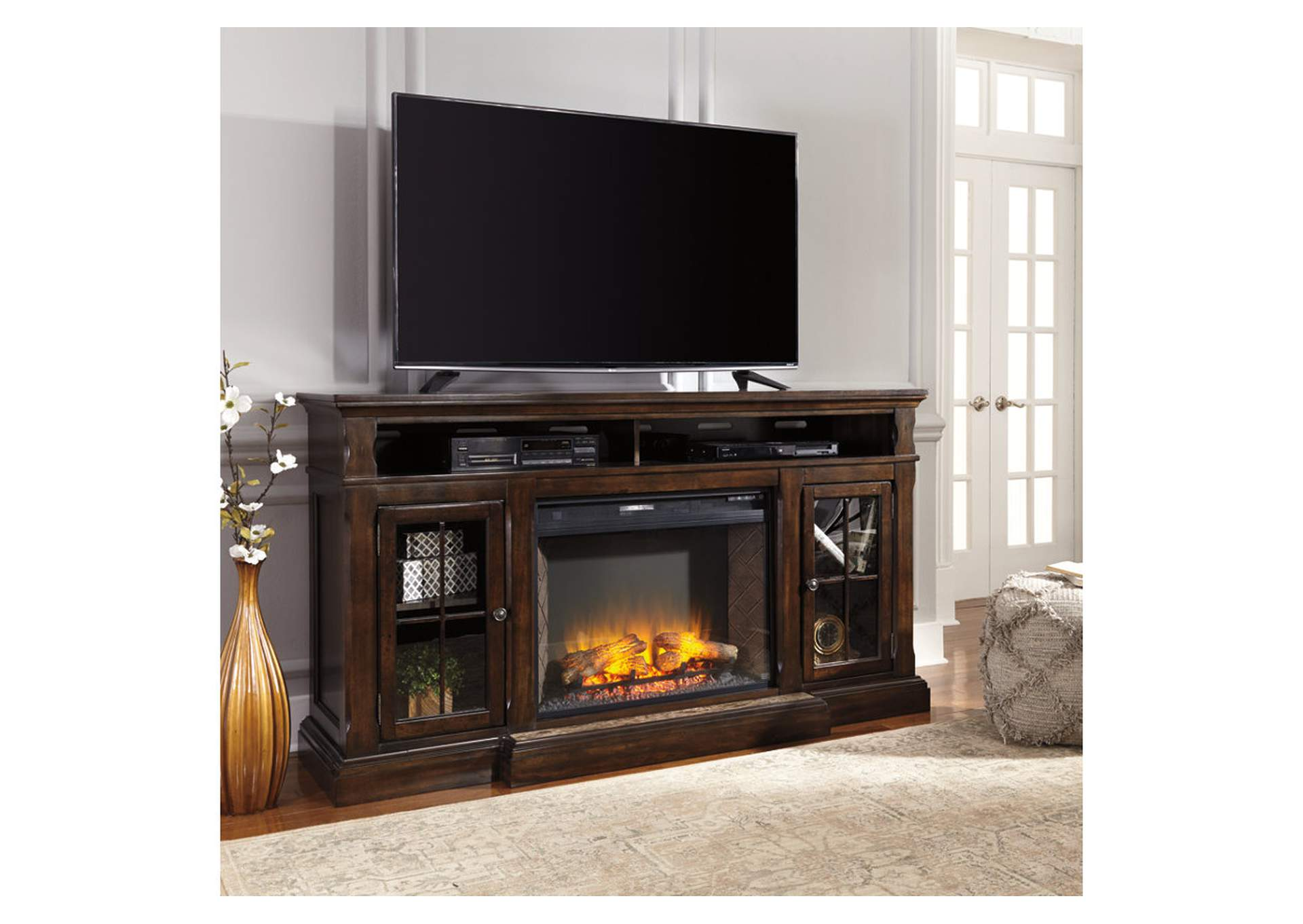 W.A Akins u0026 Sons Roddinton XL TV Stand w/ Fireplace
