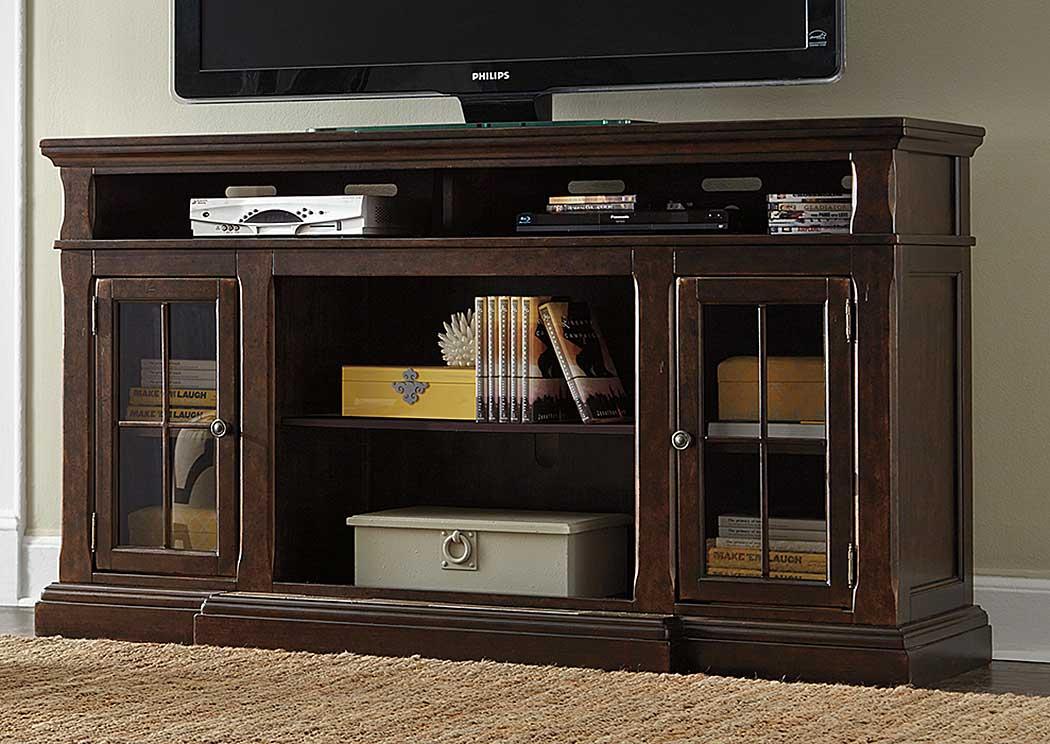 National Furniture Outlet Westwego La Roddinton Dark Brown Xl Tv Stand