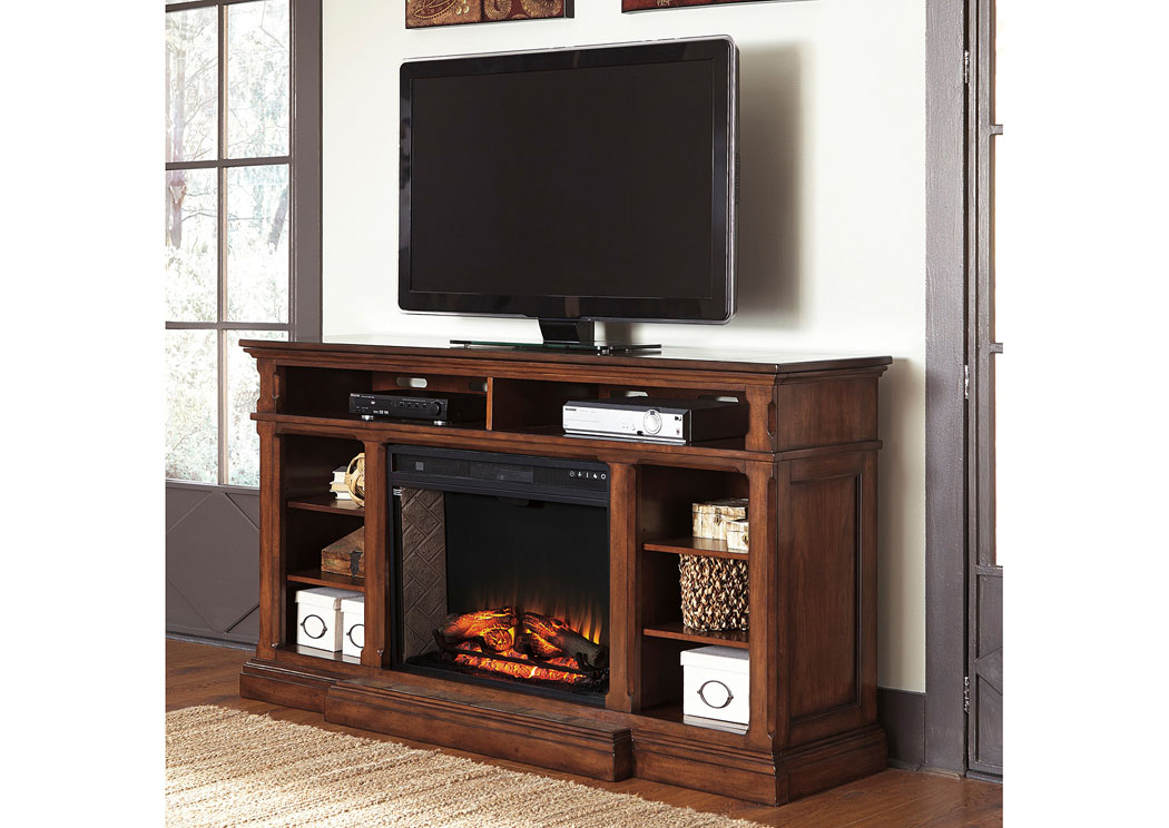Jarons Gaylon Extra Large Tv Stand W Infrared Fireplace Insert