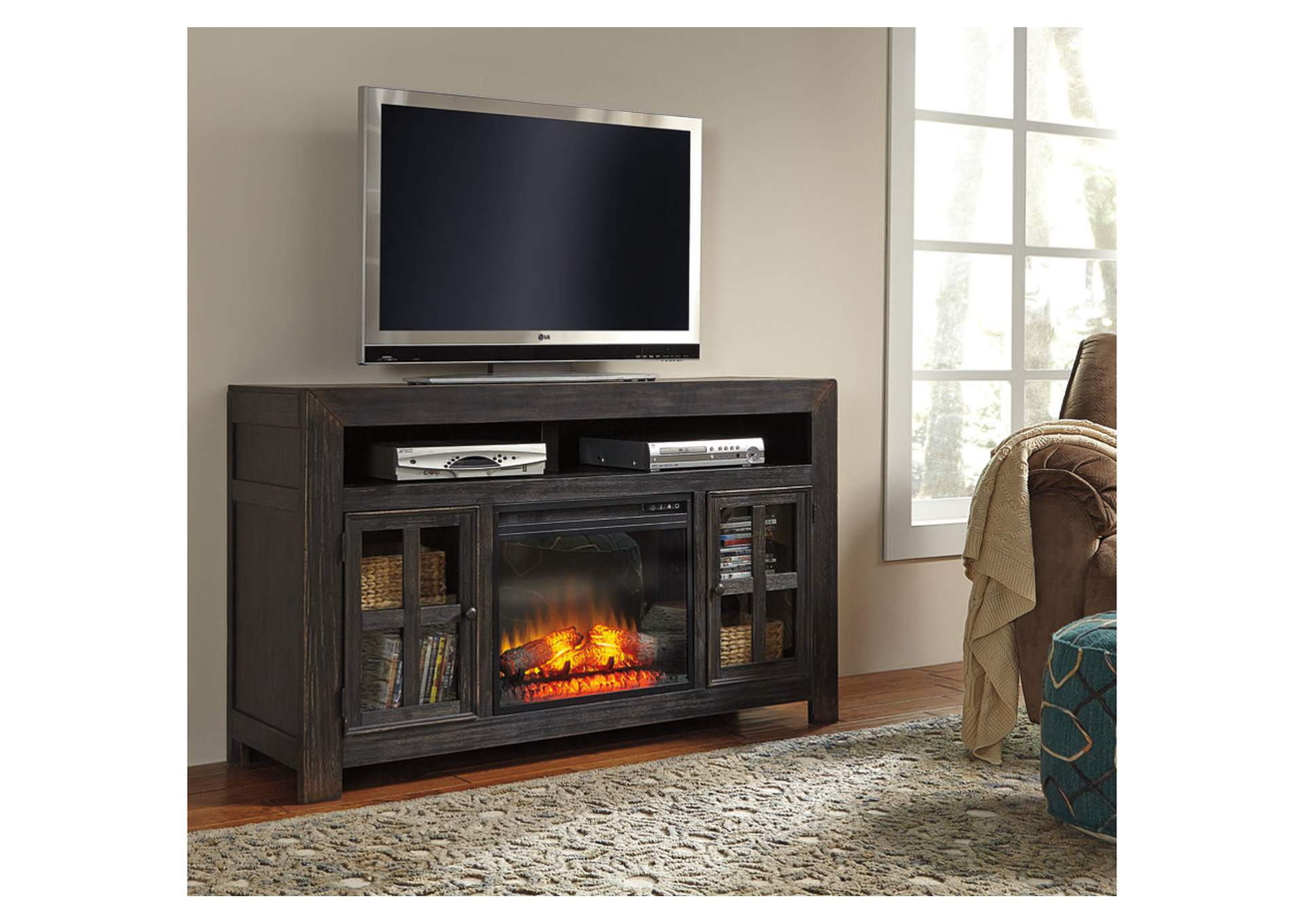 W A Akins & Sons Gavelston TV Stand w LED Fireplace