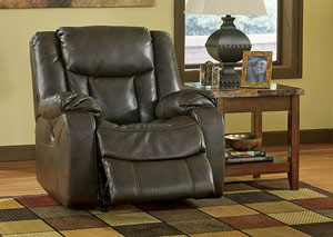 Carnell Walnut Rocker Recliner