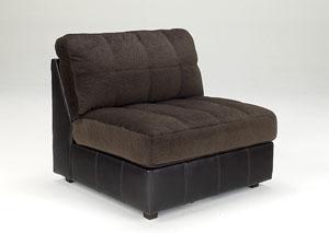 Hobokin Chocolate Armless Chair