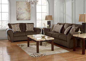 Doralynn Java Sofa & Loveseat