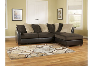 Gemini Chocolate Right Facing Chaise Sectional