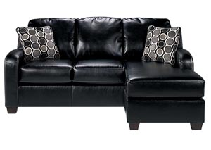 Devin DuraBlend Black Sofa Chaise