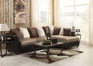 Masoli Mocha Right Facing Chaise Sectional,Benchcraft