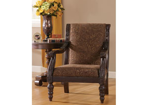 Bradington Truffle Showood Accent Chair