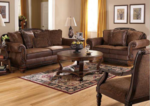 Bradington Brown Sofa & Loveseat,Ashley