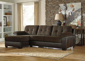 Vanleer Chocolate Left Facing Chaise End Sectional,Benchcraft