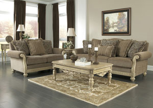 Parkington Bay Platinum Sofa & Loveseat