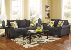 Nolana Charcoal Sofa & Loveseat
