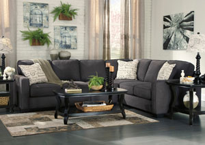 Alenya Charcoal Extended Sectional,ABF Signature Design by Ashley