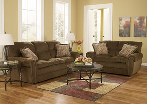 Cokato Chocolate Sofa & Loveseat