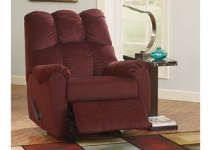 Raulo Burgundy Rocker Recliner,Signature Design by Ashley