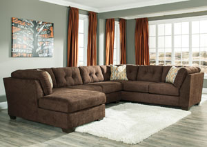 Delta City Chocolate Left Arm Facing Corner Chaise Sectional